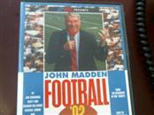 SEGA GENESIS JOHN MADDEN FOOTBALL 92